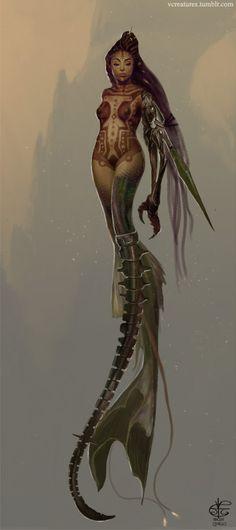 fyblackwomenart:  Mad Max Mermaid by V4m2c4   YAAASSSS!  (I also do the tumblr: originalyakslap.tumblr.com)