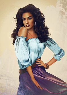 """Esmeralda from """"The Hunchback of Notre-Dame"""" - Graphic designer Jirka Vinse Jonatan Väätäinen is truly talented! By using photoshop, this artist has created portraits of what all the Disney princesses would look like in real life. They are beautiful. Esmeralda Disney, Real Disney Princesses, Disney Girls, Esmeralda Halloween, Esmeralda Costume, Realistic Disney Princess, Disney Princess Art, Disney Fan Art, Disney Love"""