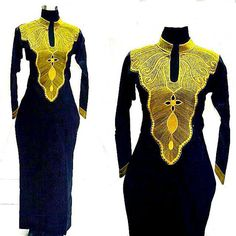 African embroidered dress for ladies of all sizes, African clothing, african… African Print Dresses, African Print Fashion, Africa Fashion, African Fashion Dresses, African Dress, African Fabric, African Attire, African Wear, African Women
