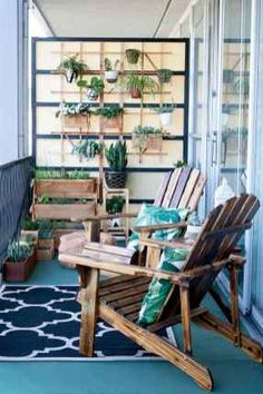 Balkon ideen 2019 - The Perfect Little Outdoor Retreat: 8 Things Your Small Balcony Needs Small Outdoor Patios, Small Patio, Outdoor Spaces, Outdoor Living, Outdoor Decor, Apartment Balcony Decorating, Apartment Balconies, Cozy Apartment, Apartment Therapy