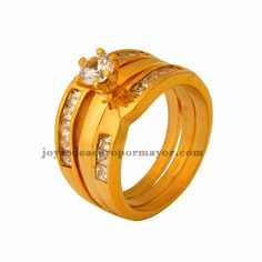 stainless steel crystal Marriage Ring for women-SSRGG831096