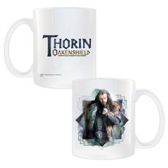 Set against a detailed graphic our exclusive mug features a strking image of Thorin Oakenshield from The Hobbit: An Unexpected…