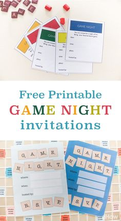 Game night just got easy to organize. Print out these awesome gamenight invitations to send to family and friends for an amazing night in! Free to download and print here: http://www.ehow.com/how_12343213_game-night-invitations-creative-printables-use.html?utm_source=pinterest.com&utm_medium=referral&utm_content=freestyle&utm_campaign=fanpage