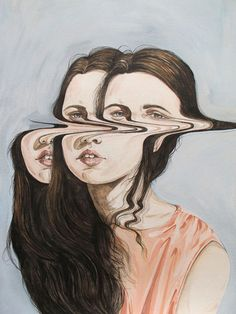 Henrietta Harris  Taking a boring self portrait and making it interesting. creepy!