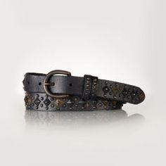 Studded Leather Belt - Polo Ralph Lauren Belts - RalphLauren.com