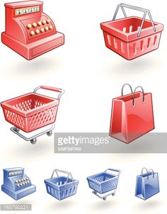 vector images of shopping cart, basket, bags - Google Search