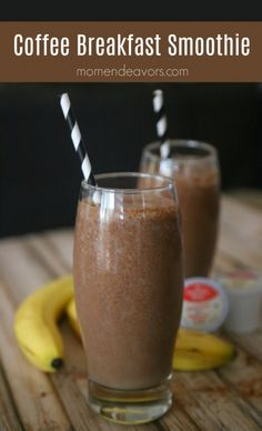 Smoothies have grown very popular over the years, with fruit smoothies being at the top of the list of favorite beverages. Many people already consume fruit smoothies regularly and have praised the… Breakfast Party, Coffee Breakfast Smoothie, Coffee Smoothie Recipes, Smoothie Drinks, Smoothie Bowl, Coffee Recipes, Fruit Smoothies, Healthy Smoothies, Healthy Drinks