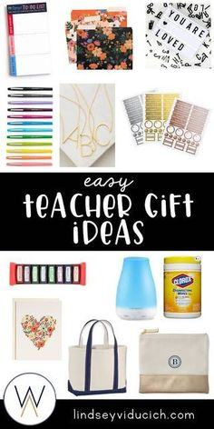 The end of the school year is a fun time to start thinking about teacher gifts, whether you're a parent looking for a gift for your child's teacher or a teacher wanting to show appreciation for a fellow teacher! These gift ideas are a fun, personalized way to celebrate teachers in your life.