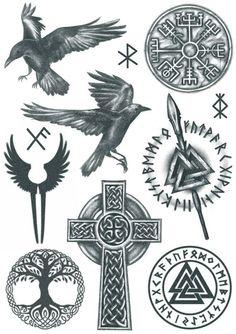 Viking Tattoo Sleeve, Viking Tattoo Symbol, Rune Tattoo, Norse Tattoo, Viking Tattoo Design, Tattoo Ink, Viking Symbols, Viking Runes, Tatoo Compass