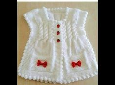 Here is a demonstration of How to Knit Integrated Vandyke Lace Vest with flowers on the front and crochet edging One piece Please, check out my other tutoria. Baby Cardigan, Baby Pullover, Vestidos Bebe Crochet, Diy Crafts Knitting, Lace Vest, Cardigan Pattern, Baby Sweaters, Baby Knitting Patterns, Crochet Lace