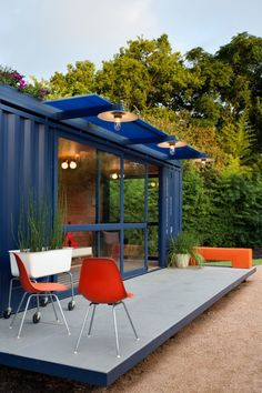 I think these are so cool! It's a house made from a shipping container.