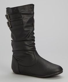 Look what I found on #zulily! Black Scrunch Amy Boot by Rockland Footwear #zulilyfinds