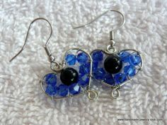 Lots of Free Jewelry Making Tutorials & Lessons: FREE How to make Bead Wrapped Heart Earrings Tutorial