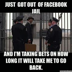 Facebook Humor, Facebook Jail, Jail Meme, Dear White People, Good Humor, World View, Friday Humor, English Quotes, Make Me Smile