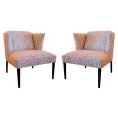 DH loves this pair of Mid Century Winged back chairs from the 1950's