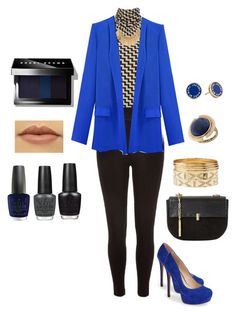 """""""Blue"""" by fashionboomer on Polyvore featuring Wallis, River Island, Jessica Simpson, Charlotte Russe, Marc by Marc Jacobs, Lucky Brand, Dune, Bobbi Brown Cosmetics and OPI"""
