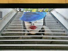 """Artist : ZAG... Metro station St. Germain des Près - PARIS """" La Parisienne"""""""