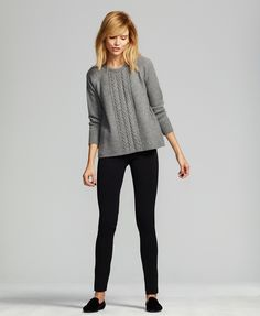 ME+EM Italian Alpaca and silk knit Swing jumper: the softest knitwear for chic winter layering