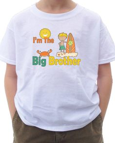 Surfer Big Brother Shirt - I'm the BIG BROTHER Surfing Surfer T-shirt dude beach surf board tshirt sun waves shirt surfer shirt