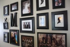 Steps and Tips for Creating a Family Photo Wall Display - Really want to do this in our hallway, but I'm scared, ha ha