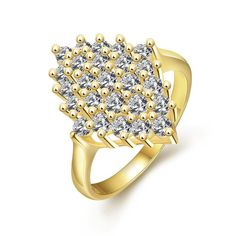 Plated Roses Full Of Jewels Ring, Women's