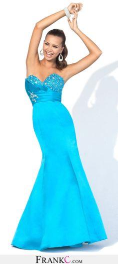 mermaid prom dress,blue prom dress