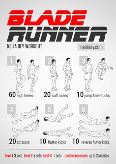 Blade Runner Workout / works: quads, calves, lower abs, glutes, lower back #fitness #workout #workoutroutine #fitspiration