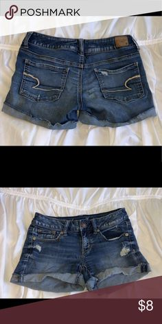 American Eagle Jean Shorts Very lightly worn American Eagle shorts with some ripped detail. Can we rolled or unrolled. American Eagle Shorts, American Eagle Outfitters Shorts, Faster Horses, Chocolate Lava, Jean Shorts, Cute Outfits, Detail, Best Deals, Womens Fashion