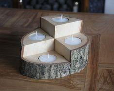 Wooden Tealight Holder, 4 Piece set #woodworkingideas