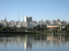https://flic.kr/p/2FCtpx | Sao Paulo skyline | Over the lake at Ibirapuera park