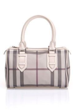 b19c8936ea98 Burberry Bowling Bag In Smoked Check And Trench Burberry Handbags