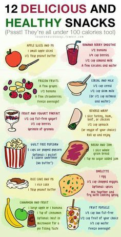 Need a healthy snack? Check out these 12 options under 100 calories! #healthyhabits