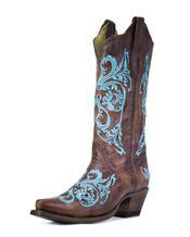 Turquoise Dhalia Boot