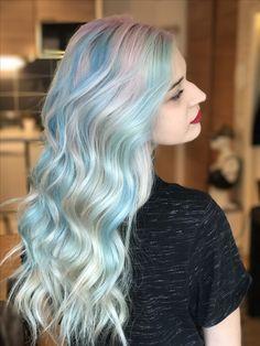Unicorn hair rainbow blue Licorne by Alice Kieffer