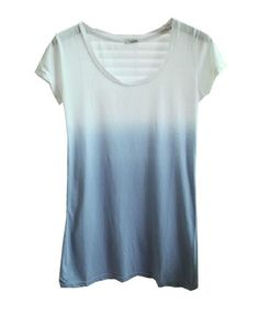 Gradient Round Collar Short Sleeve T-shirt - T-shirt Tops - T-shirts & Tanks - Clothing - All Products