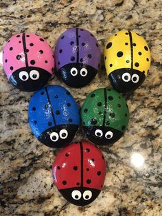 Ladybug Painted Rocks - Steine bemalen - Ladybug Painted Rocks You are in the right place about cactus plants Here we offer - Painted Rock Animals, Painted Rocks Craft, Hand Painted Rocks, Lady Bug Painted Rocks, Painted Pebbles, Painted Garden Rocks, Painted Rock Cactus, Rock Painting Patterns, Rock Painting Ideas Easy