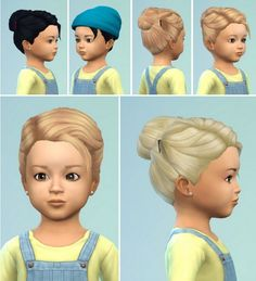 Birkschessimsblog: Toddlers Hair Bun with Clips • Sims 4 Downloads