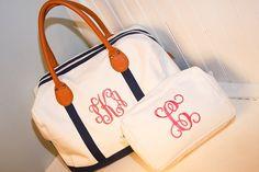 Navy Weekender Travel Bag   The Preppy Pair