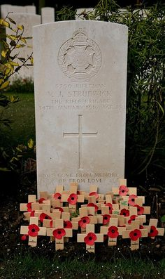 Grave of Valentine Joe Strudwick, age 15, Essex Farm Cemetary, Belgium by Nige820, via Flickr