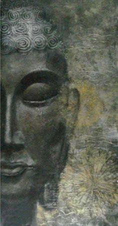"Zen - ""Mindfulness is the art of appreciating the moment just as it is. Buddha Zen, Gautama Buddha, Buddha Buddhism, Buddhist Art, Buddha Wisdom, Buddhist Quotes, Image Zen, Art Asiatique, Buddha Painting"