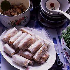 Vietnamese Spring Rolls with Mushrooms and Kohlrabi