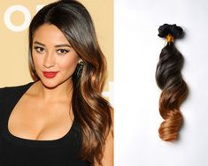 Shay-Mitchell-ombre capelli lunghi extension a clip