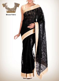 Black Jute Saree