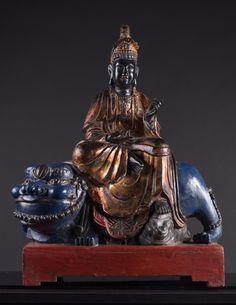A statue of Bodhisattva Manjusri China, Qing Dynasty, 17th Century