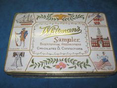 Vintage WHITMAN'S SAMPLER Bicentennial Assortment Advertising TIN BOX...RARE