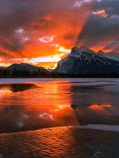 Sunrise over Banff National Park, Alberta, Canada