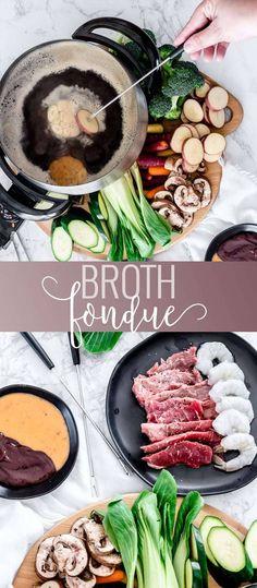 36 Trendy Cheese Fondue Dippers The Melting Pot Fondue Recipe Melting Pot, Broth Fondue Recipes, Melting Pot Recipes, Beef Recipes, Cooking Recipes, Easy Recipes, Cheap Recipes, Shrimp Fondue Recipe, Crockpot Fondue
