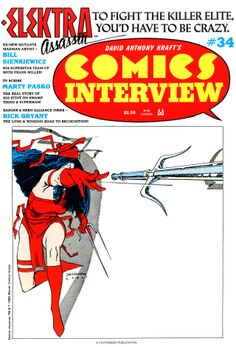 Comics Interview 34 (1986). Cover and interview with Bill Sienkiewicz.