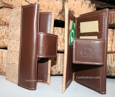 Wallet (model CC-1178) - Eco-friendly - made of real cork. From www.corkfashion.com