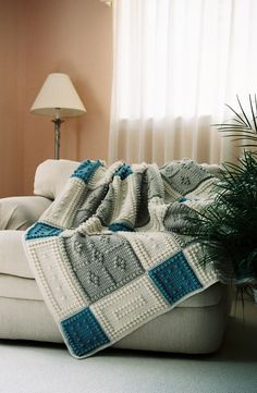 COUNTRY pattern for crocheted blanket от ColorandShapeDesign